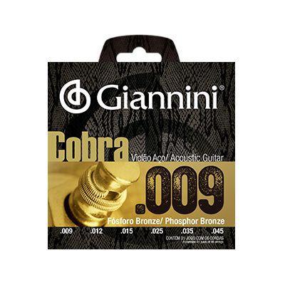 Encordoamento Giannini Violão GEEWAK Aço Cobra 0.09