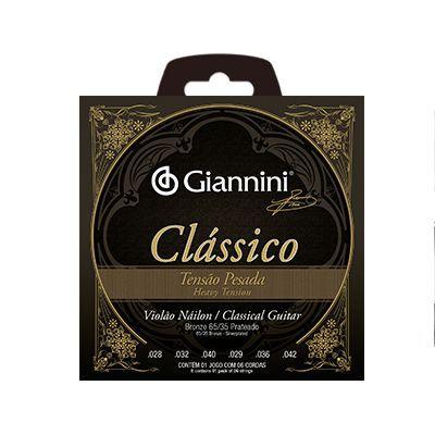 Encordoamento Giannini Violão GENWPA Nylon Clássico Pesada