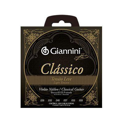 Encordoamento Giannini Violão GENWPL Nylon Clássico Leve