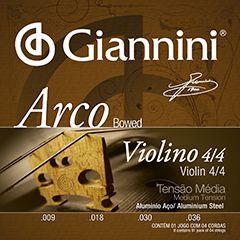 Encordoamento Giannini Violino 4/4 Média