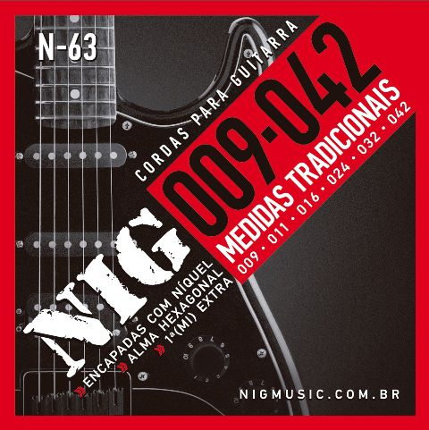 Encordoamento NIG Guitarra N-63 0.09