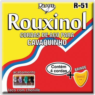 Encordoamento Rouxinol Cavaco R51 Tensão Média (Brinde 1 Palheta)
