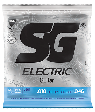 Encordoamento SG Guitarra Light 0.10