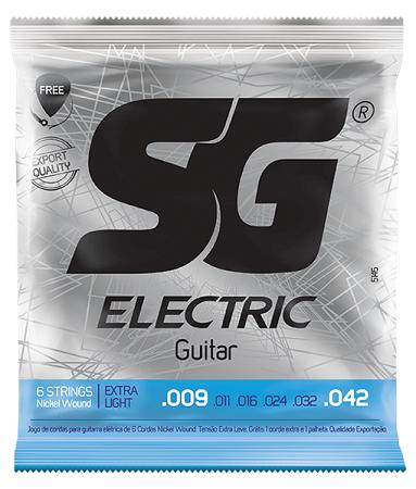 Encordoamento SG Guitarra Super Light 0.09