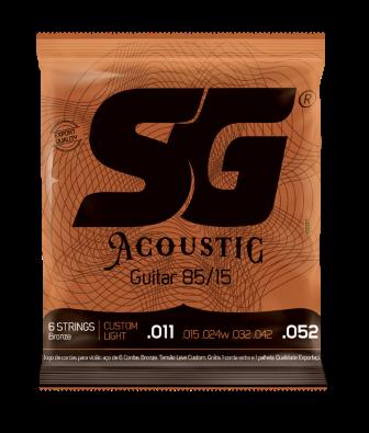 Encordoamento SG Violão Aço Acoustic 0.11
