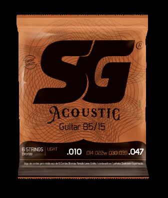 Encordoamento SG Violão Aço Acoustic 85/15 0.10