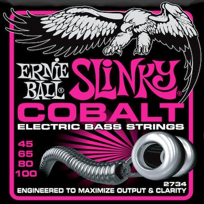 Encordoamento Ernie Ball 2734 Baixo 4C Slinky Cobalt .45