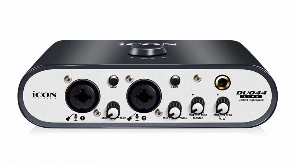 Interface de Áudio ICON Duo44Live USB 2 Canais com MIDI, Compatível com Celular