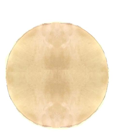 Pele Couro de Cabra Disco 40cm p/ Bongo, Pandeiro, Atabaque