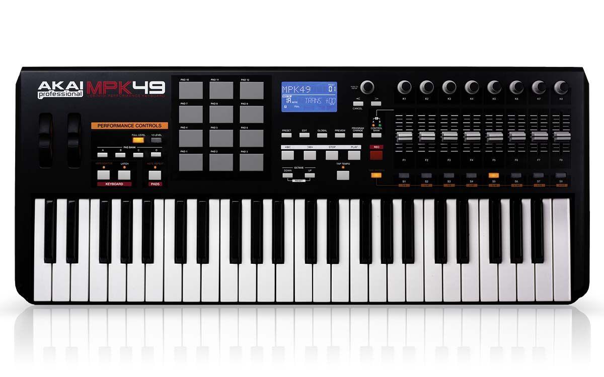 Teclado Controlador MIDI AKAI MPK 49