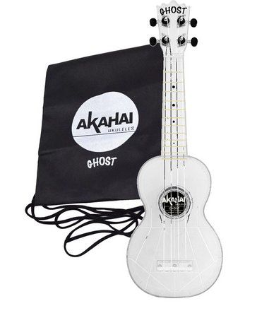 Ukulele Akahai Ghost Transparente