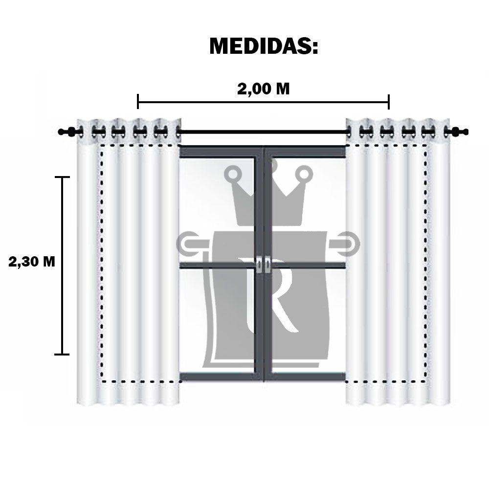 Cortina Amarílis Linha Rústica 2,30X2,00m DECORI CORTINAS