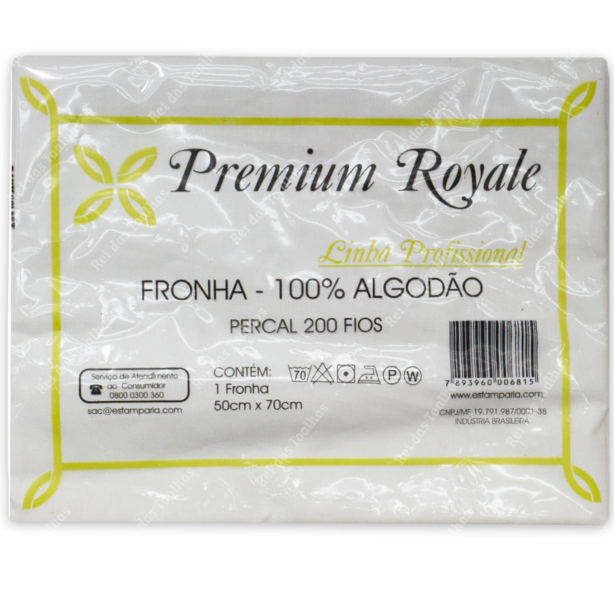Fronha Premium Royale Linha Profissional Percal 200 Fios 100% Algodão ESTAMPARIA S.A