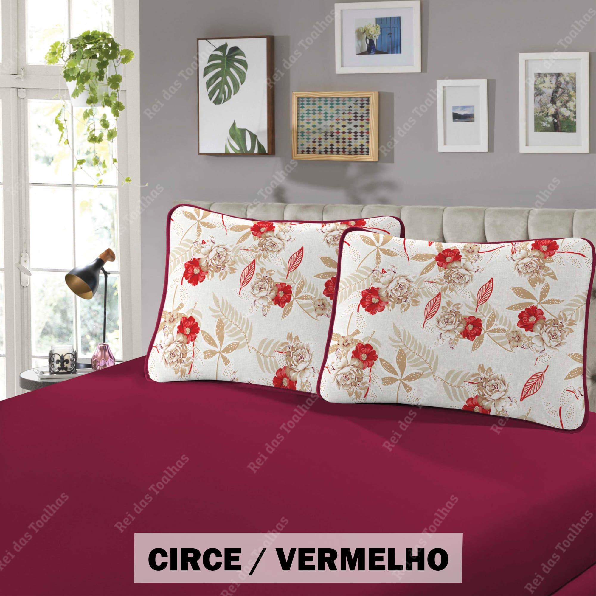 Jogo De Cama Casal 3 Peças Confort Estampado Em Malha Fio 30/1 Penteado Compactado 100 % Algodão SCHWAMBERTEX