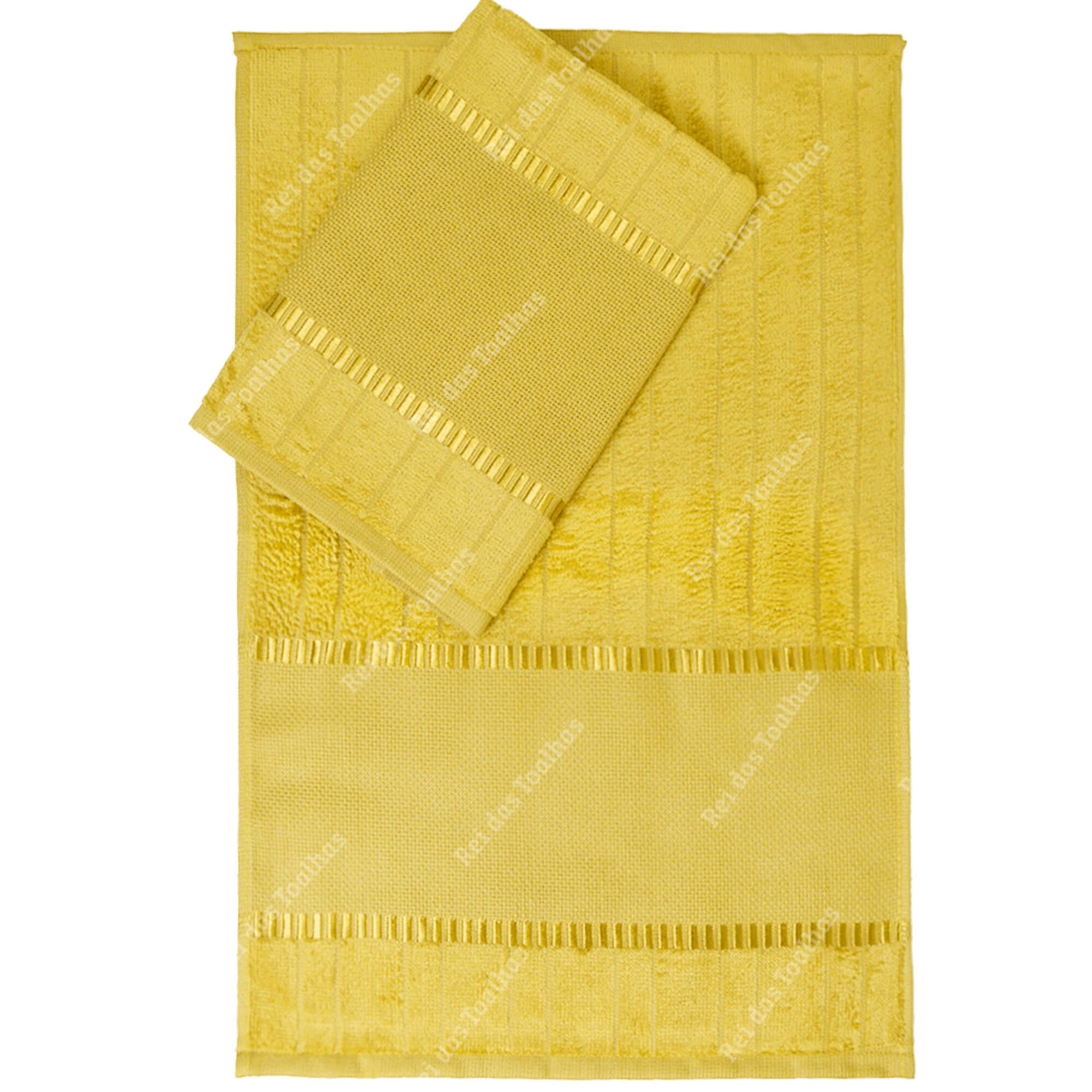 Kit Com 12 Lavabos Para Bordar Velour Bella Liso 30X45cm DOHLER