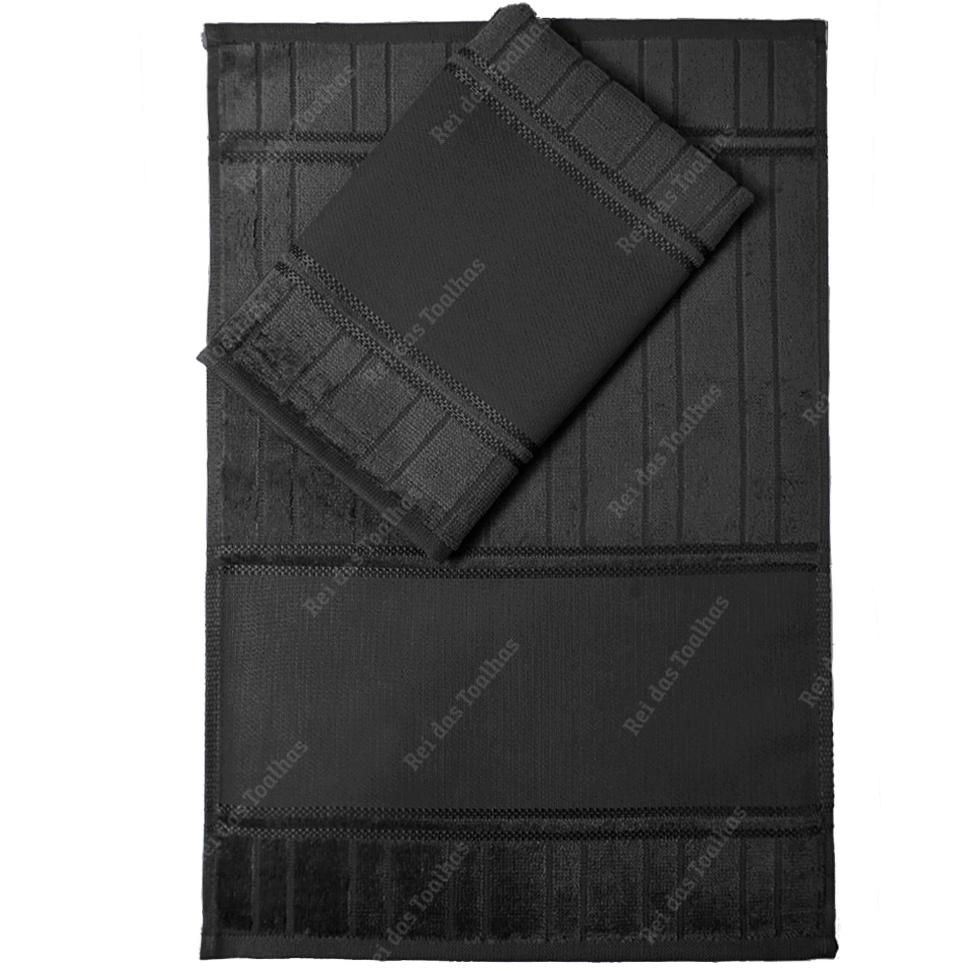 Kit Com 12 Lavabos Para Pintar Velour Artesanalle PRETO 30X45cm DOHLER