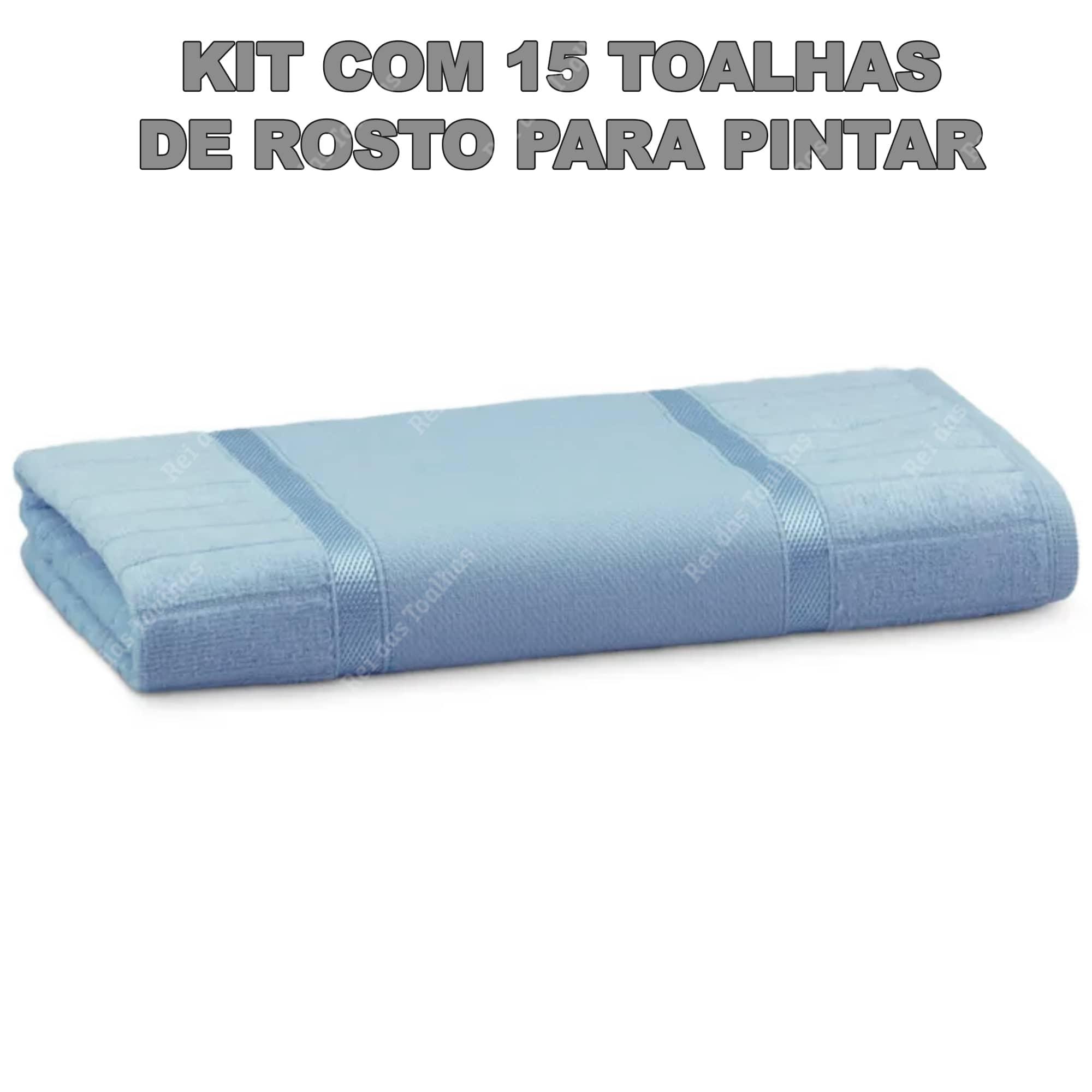 Kit Com 15 Toalhas De Rosto Velour Para Pintar Linha Pinte Bem 50X80cm BUETTNER