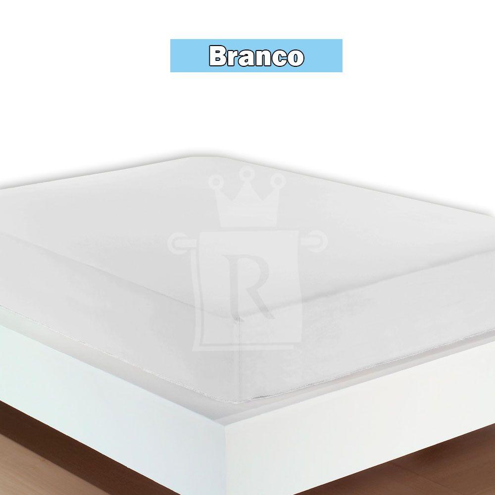 Kit Com 3 Lençóis Solteiro Com Elástico De Malha Fio 30/1 Penteado 100 % Algodão CLAMATEX