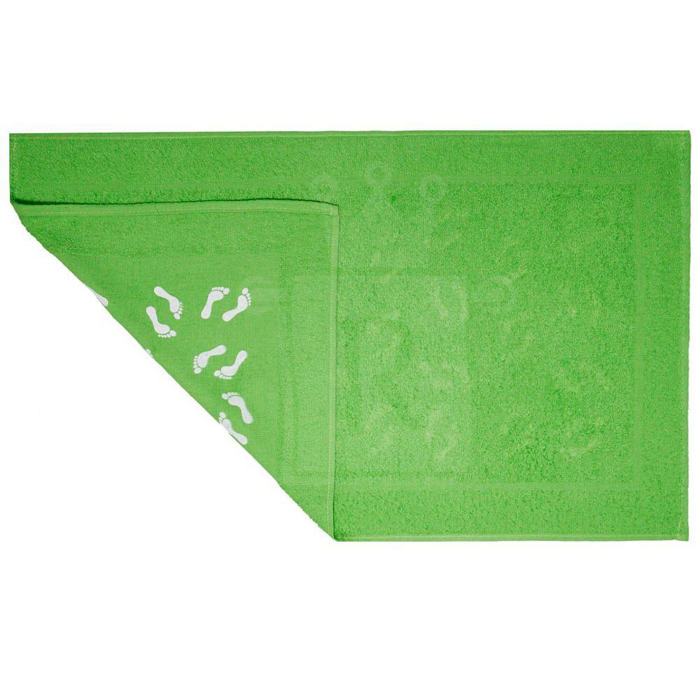 Kit Com 6 Pisos Atoalhado Estampado Com Antiderrapante Felpudo Para Banheiro 38X64cm DE'LIMAS