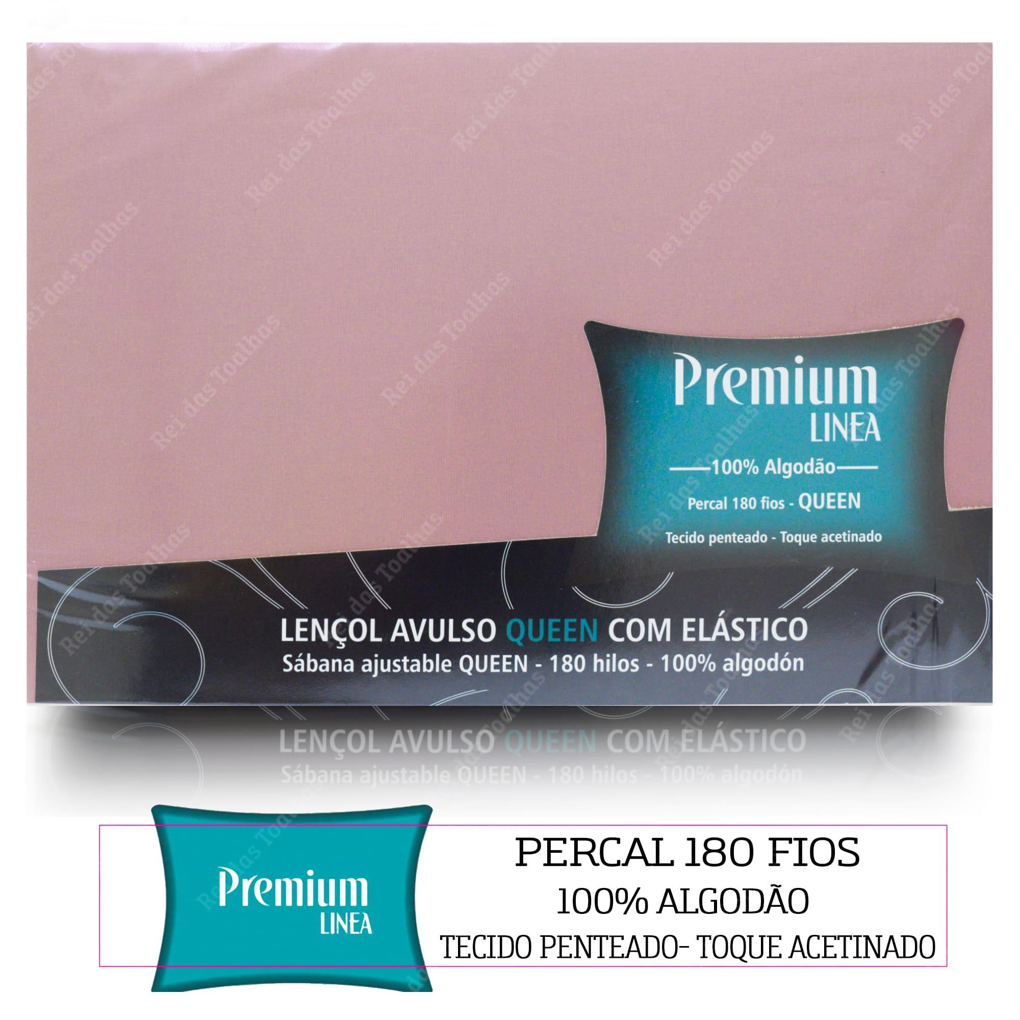Lençol Avulso Com Elástico Premium Linea Queen Percal 180 Fios 100% Algodão ESTAMPARIA S.A