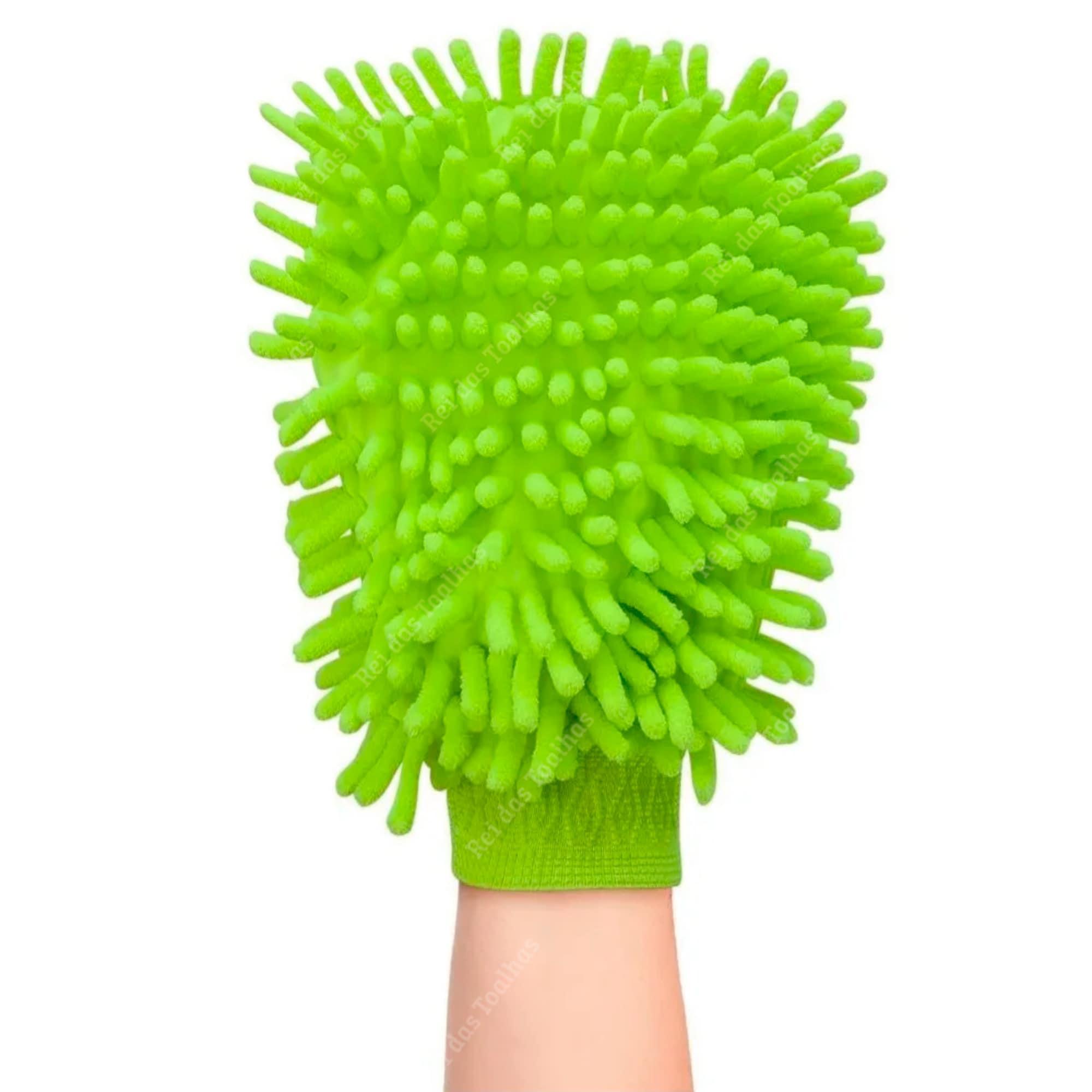 Luva De Limpeza Chenille 100% Poliéster Max Clean 25cm x 14cm X 2,5 cm CLINK