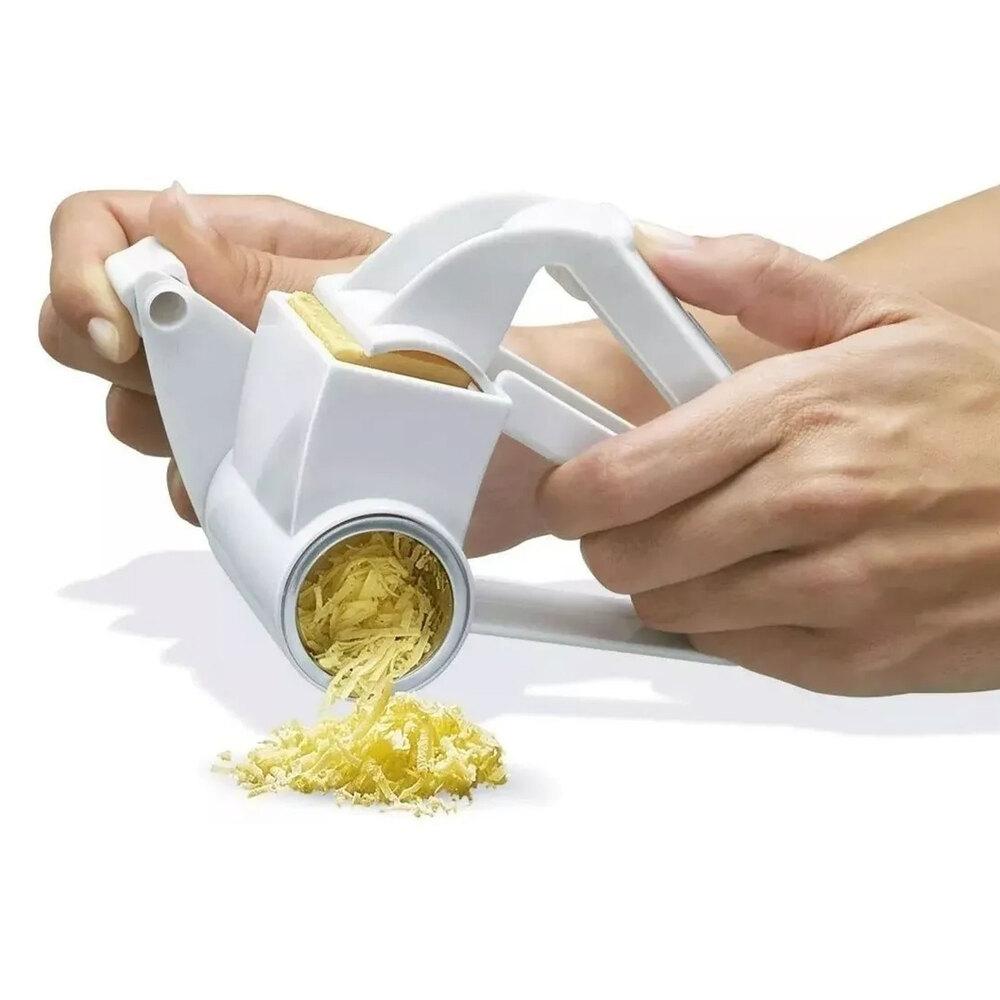 Ralador Manual De Queijos Em Plástico & Aço Inox