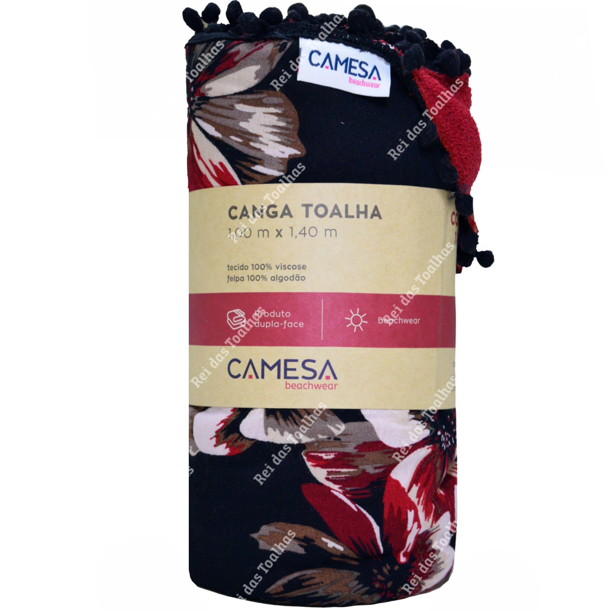 Toalha Canga Beachwear Melissa Vermelho Dupla-Face 100m X 140m CAMESA