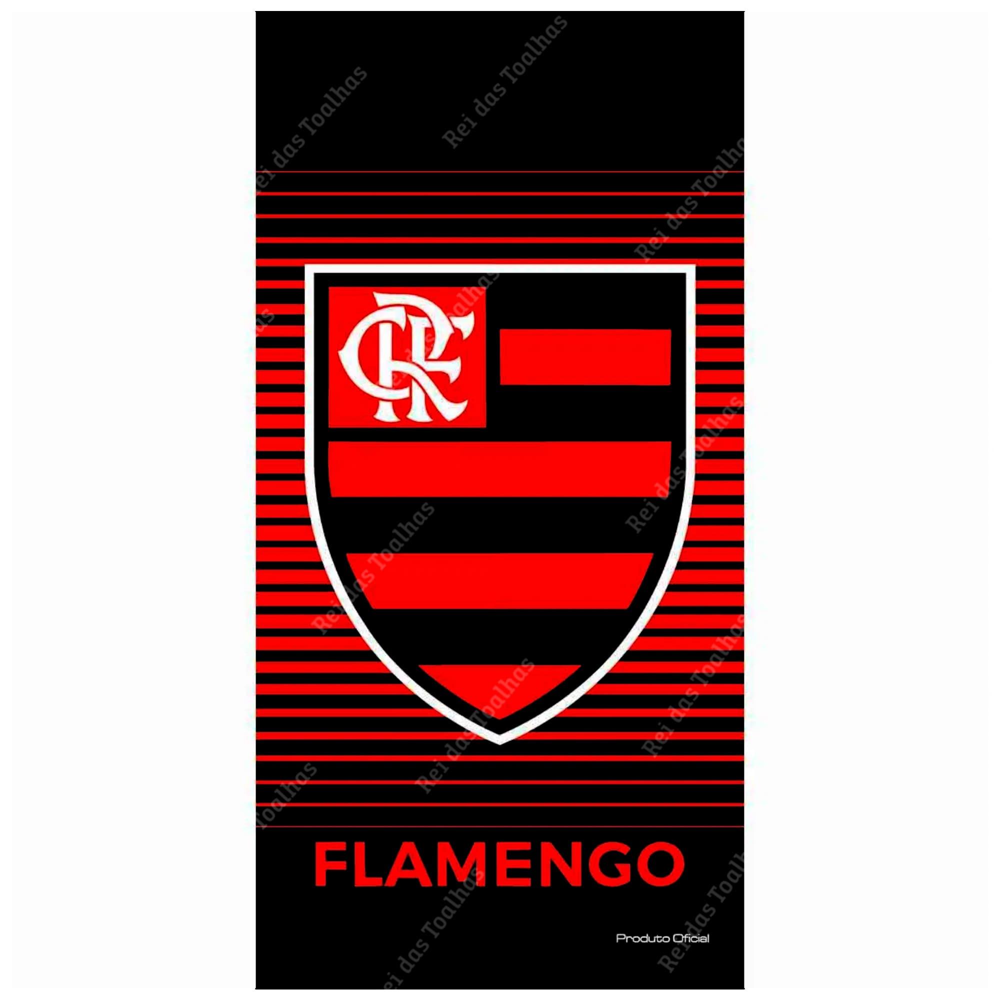 Toalha De Banho Do Flamengo Aveludada Licenciada 70X140cm BUETTNER