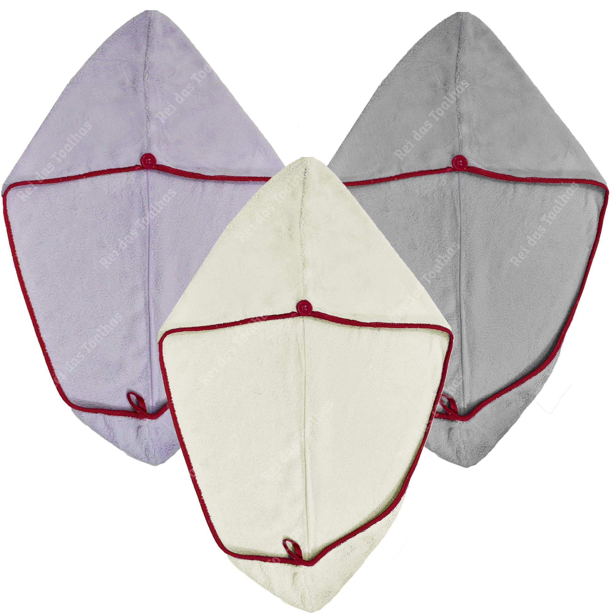Touca Para Cabelo Anti Frizz Com Botão Auxiliar 25cm x 65cm CAMESA