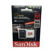 Cartão SANDISK Micro sd 64gb Extreme A1 100mb/s