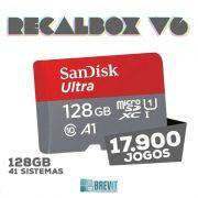 CARTÃO RECALBOX BREVIT V6 ``DRAGONBLAZE´´ 128GB P/ RASP B E B+