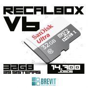 CARTÃO RECALBOX BREVIT V6 ``DRAGONBLAZE´´ 32GB P/ RASP B E B+