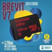 Cartão Recalbox Brevit V7 128GB P/Rasp B e B+