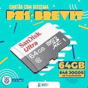 Cartão Brevit V7 64GB PS1 P/Rasp B e B+