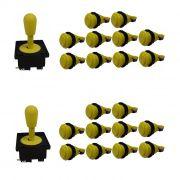 Kit 2 Comandos Aegir 20 Botões De Nylon