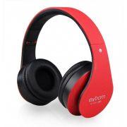 Fone Headset Hf-400bt Bluetooth Fm/cartao Sd Exbom Vermelho