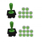 Kit 2 Comandos Aegir 20 Botões Corpo Branco Verde