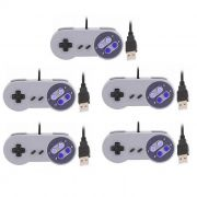 Kit 5 Controles Usb Super Nintendo Snes Joystick Windows