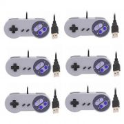 Kit 6 Controles Usb Super Nintendo Snes Joystick Windows