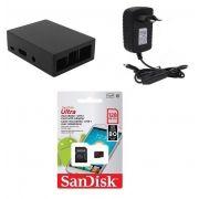 Kit Acessórios P/ Raspberry Pi 3 - 128gb Case Alumínio