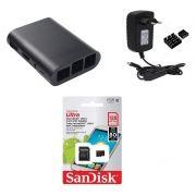 Kit Acessórios P/ Raspberry Pi 3 - 128gb Case Black