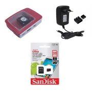 Kit Acessórios P/ Raspberry Pi 3 - 128gb Case Official C/cooler