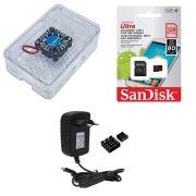 Kit Acessórios P/ Raspberry Pi 3 - 128gb Case Premium C/ Cooler