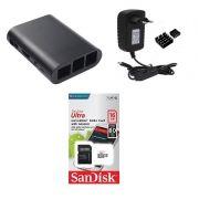 Kit Acessórios P/ Raspberry Pi 3 - 16gb Case Black