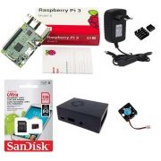 Kit Básico Raspberry Pi 3 - 128gb Case Com Cooler