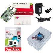 Kit Básico Raspberry Pi 3 - 128gb Case Premium C/ Cooler