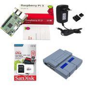 Kit Básico Raspberry Pi 3 - 32gb Case Snes