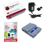 Kit Básico Raspberry Pi 3 B+ Plus - 128gb Case Snes