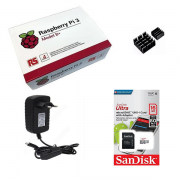 Kit Básico Raspberry Pi 3 B+ Plus - 16gb