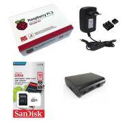 Kit Básico Raspberry Pi 3 B+ Plus - 16gb Case Black